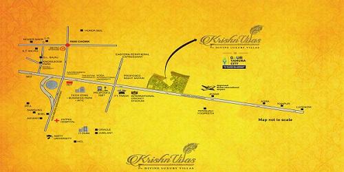 Krishnvilas Location Map